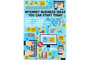 Internet business, web e-commerce