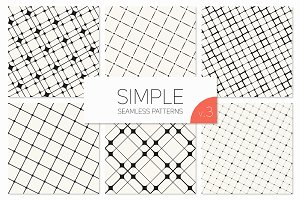 Simple Seamless Patterns. Set 3