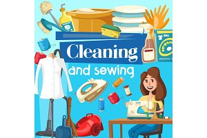 House cleaning and sewing service