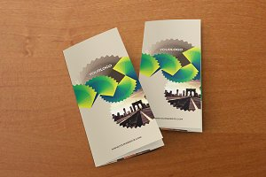 Green Pattern Trifold Brochure