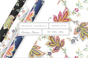 Seamless Paisley Floral Prints!