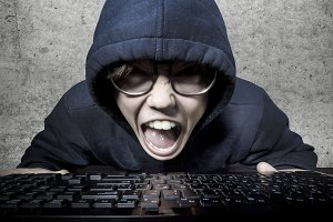 angry hacker