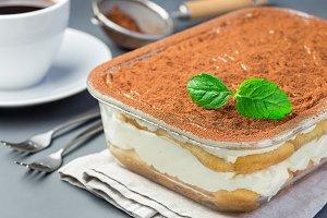 Traditional italian Tiramisu dessert
