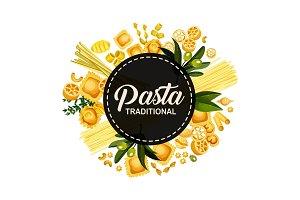 Italian pasta traditional cuisine
