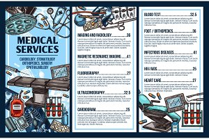 Medical hospital service, vector
