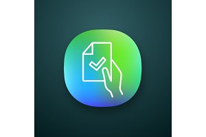 Contract signing app icon