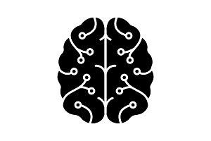 AI glyph icon