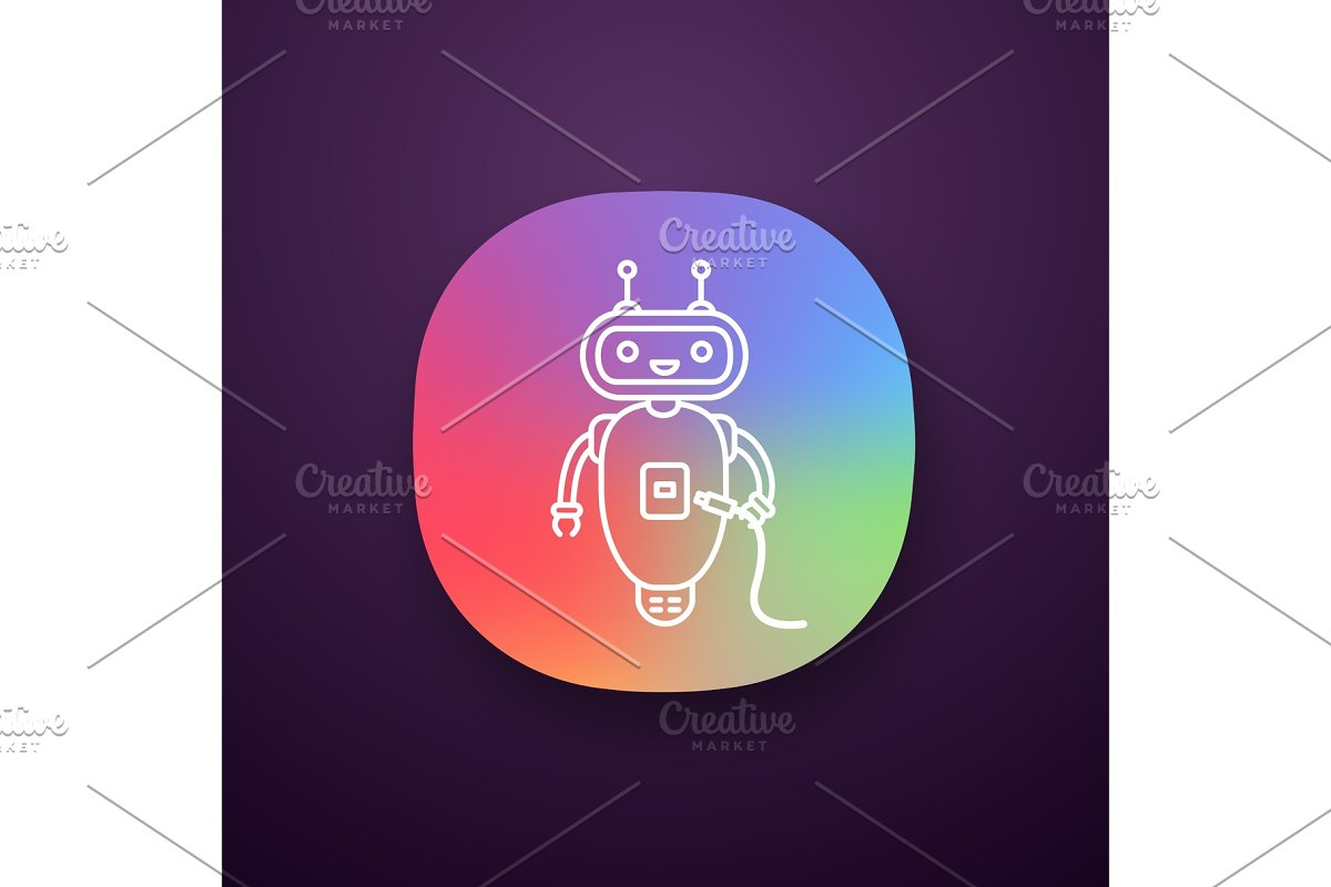 Chatbot with USB cable app icon