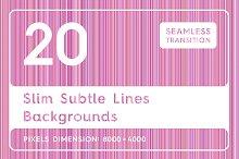 20 Slim Subtle Lines Backgrounds