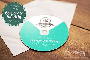 "CD & DVD Cover Mockup ""A"""