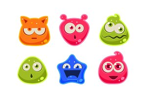Cute funny colorful jelly