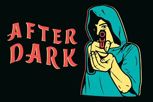 After Dark Ave Maria with pistol