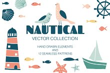 NAUTICAL vector collection by  in Patterns