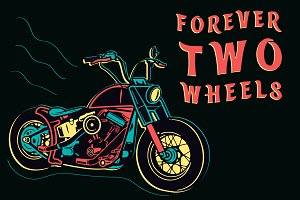 Retro Motorcycle, Forever Two Wheels