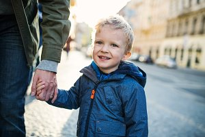 A small toddler boy with