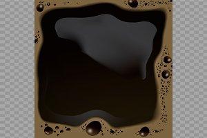 Realistic morning coffee background
