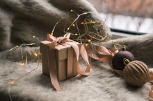 Christmas gift box with decoration by  in Holidays