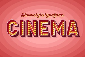 Retro Broadway cinema font design