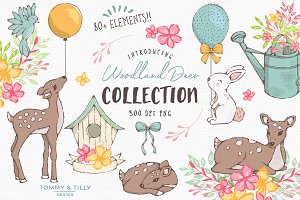 Woodland Deer Clipart
