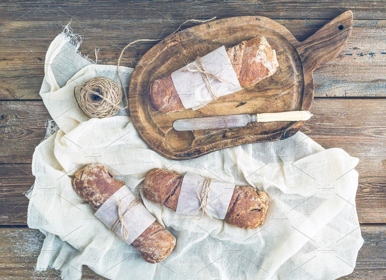 Freshly Baked Rustic Village Bread Food Drink Photos
