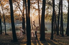 Happy family in an amazing light by  in People