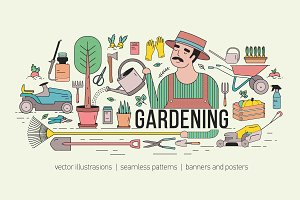 Gardening bundle and seamless