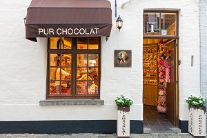 Traditional Belgian chocolate store