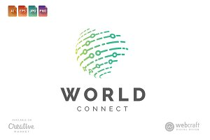 World Connect Logo Template