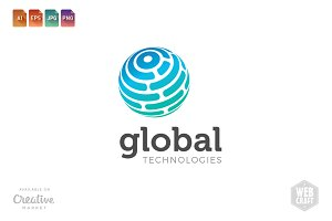Global Technologies Logo Template