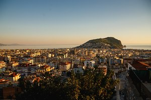 Amazing aerial view of Alanya