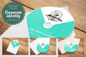 4 PSD CD & DVD Cover Mockups