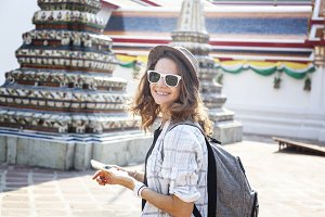 Female traveler in Bangkok