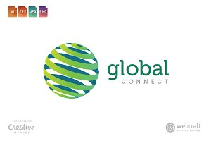 Global Connect Logo Template 2