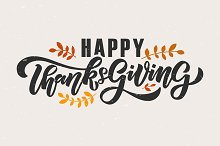 Happy Thanksgiving Lettering Card
