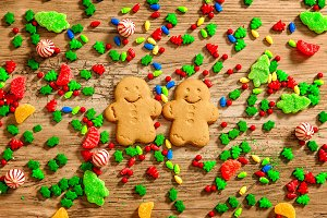 background of Christmas sweets