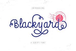 Blackyard Script & Sans - 40% off