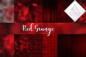 Red Grunge Digital Paper