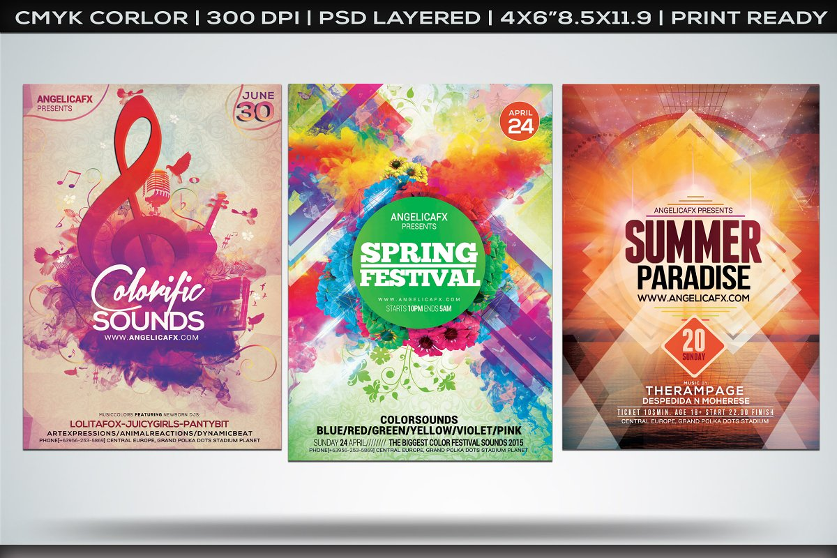 Colorful Flyers Bundle Vol. 2