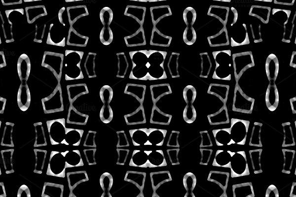 Dark Geometric Seamless Mosaic Patte