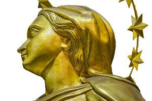 Golden Saint Women with Crowd Sculpt