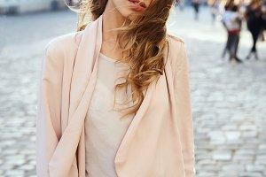 beautiful fashionable woman with
