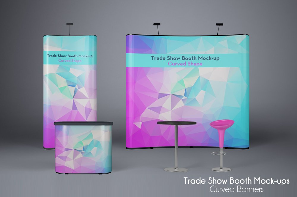 Download Free Mock Up Exhibition Stand : Trade show booth mock ups v product mockups creative