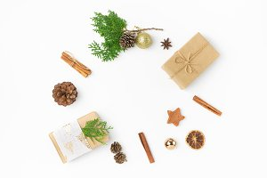 Christmas background gift boxes