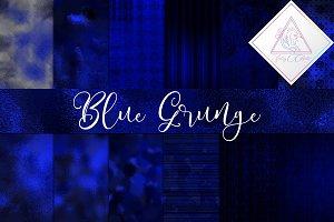 Blue Grunge Digital Paper