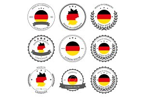 Made in Germany, seals, badges