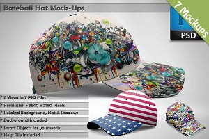 Baseball Hat Mockups 7 PSD Mockups