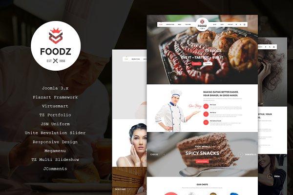 Joomla Themes: TemPlaza - Foodz - Restaurant Joomla Template