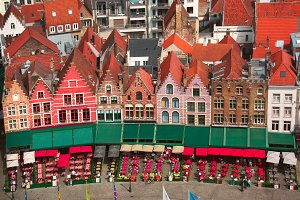 Old Market square in Bruges, Belgium