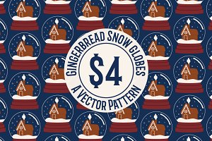 Gingerbread Snow Globes Pattern
