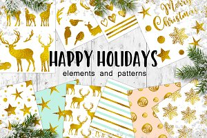 Happy Holidays Christmas Design Kit